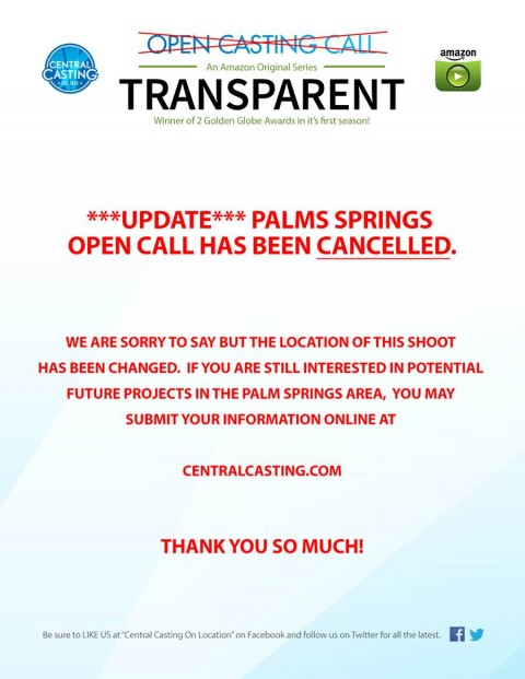 Transparent Casting Call