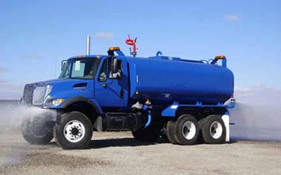 blue water truck