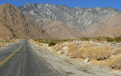 Desert Roads in Palm Springs CA